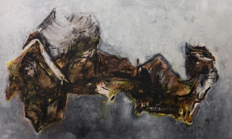"Shawki Youssef, ""Arab World Map,"" 2013, Mixed media on canvas, 200 x 333 cm"