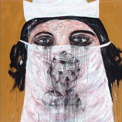 Raouf Rifai, Emotional Nurse, 2011 Acrylic on canvas, 150 x 150 cm (59 x 59 in.)