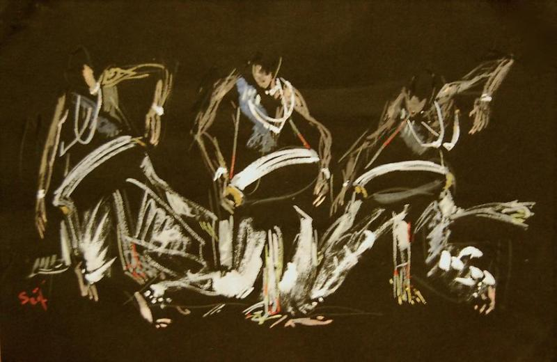 Seif-Wanly-Untitled-c.-1953-Pastel-on-canson-paper-30.5-x-47-cm