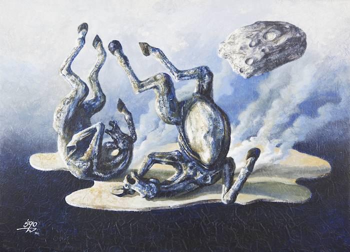 Moosa Al Halyan - Horse Painting, 1996.